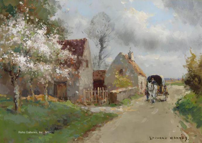 后印象派风景 法国画家Edouard Léon Cortès作品二插图45