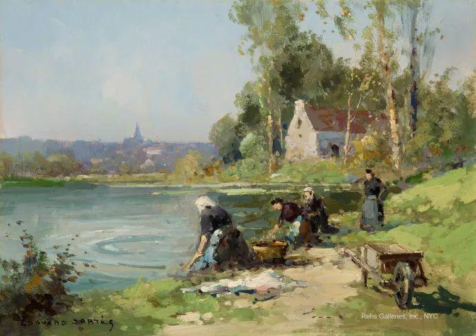 后印象派风景 法国画家Edouard Léon Cortès作品二插图47