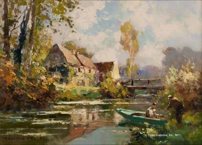 后印象派风景 法国画家Edouard Léon Cortès作品二插图49