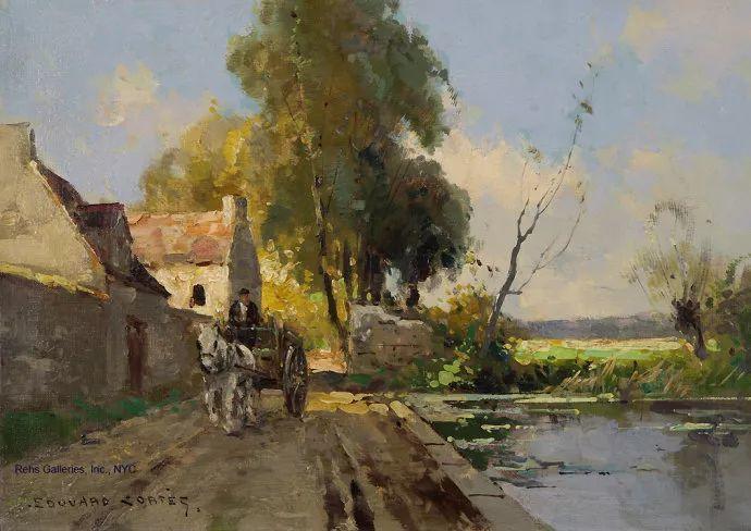 后印象派风景 法国画家Edouard Léon Cortès作品二插图51