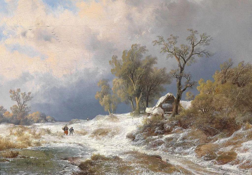 美丽精细的雪景,荷兰画家Remigius van Haanen插图1