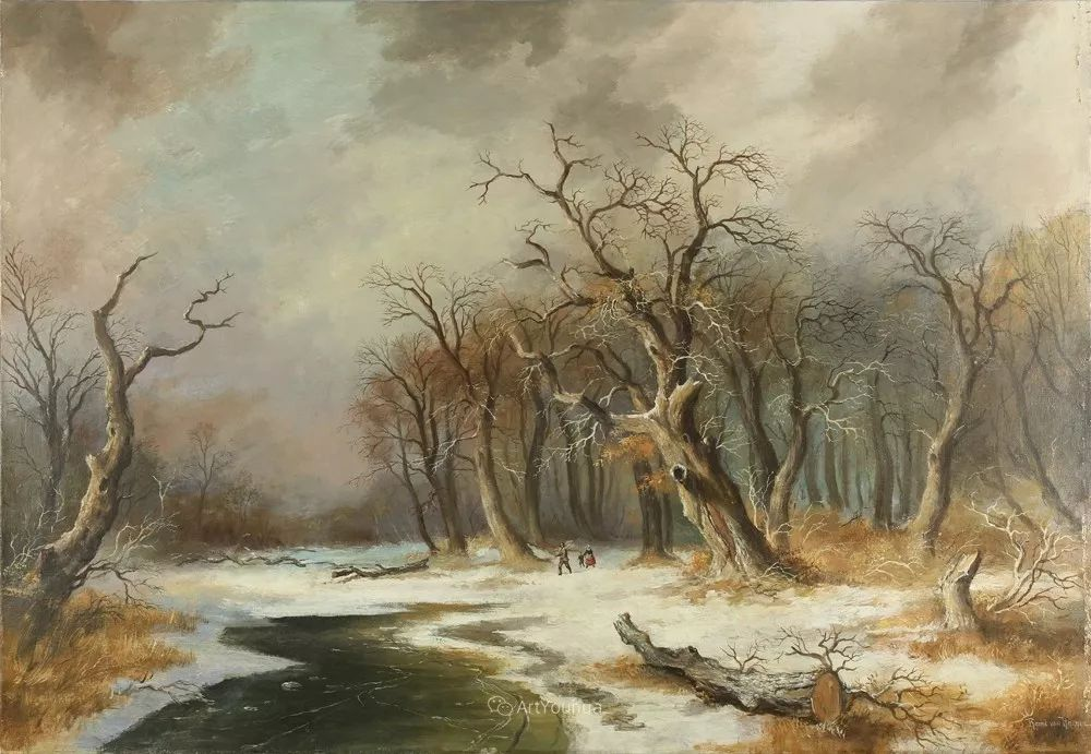 美丽精细的雪景,荷兰画家Remigius van Haanen插图6
