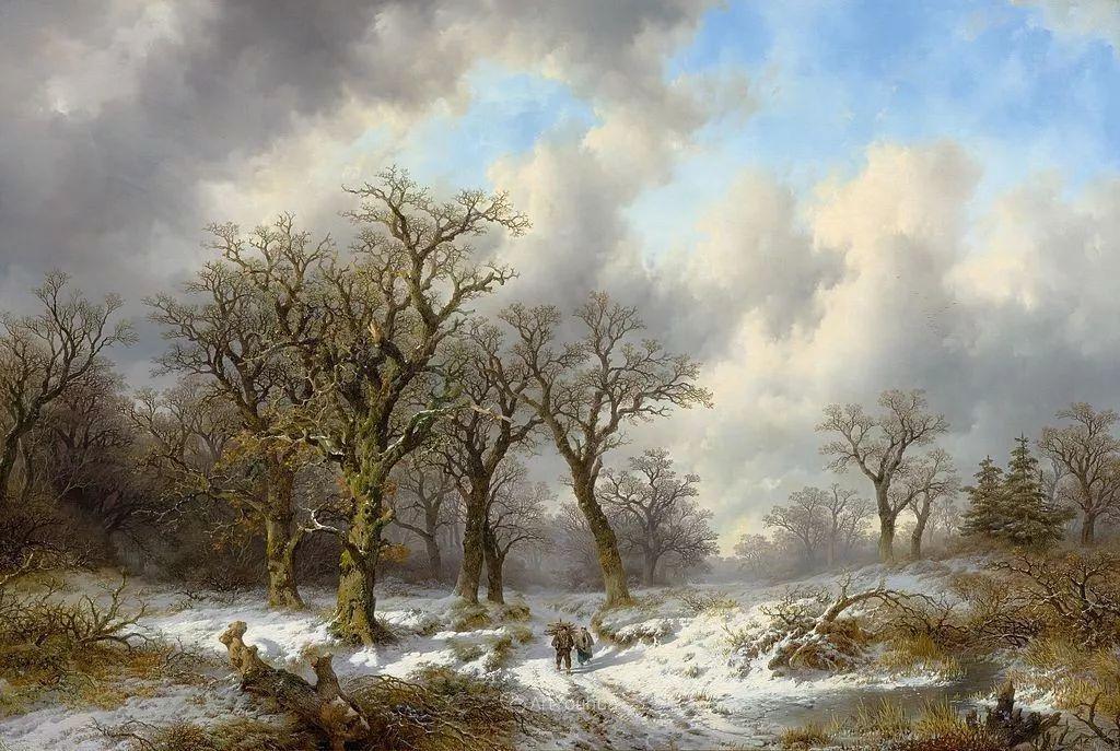 美丽精细的雪景,荷兰画家Remigius van Haanen插图7