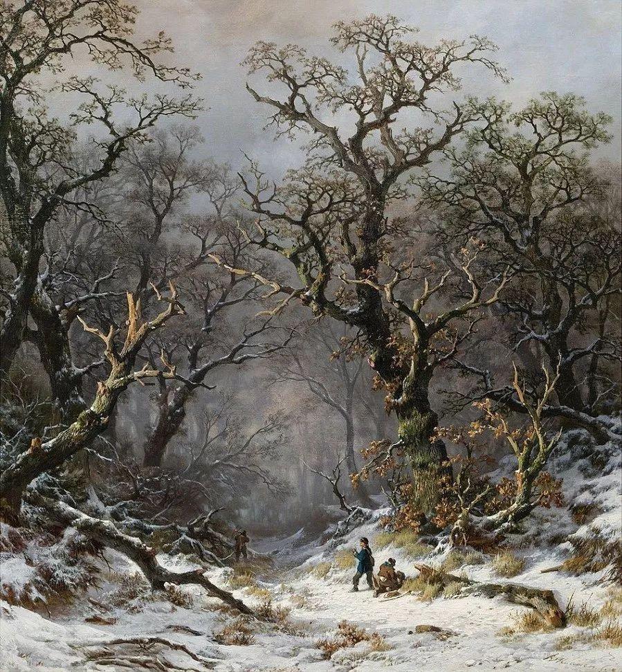 美丽精细的雪景,荷兰画家Remigius van Haanen插图8