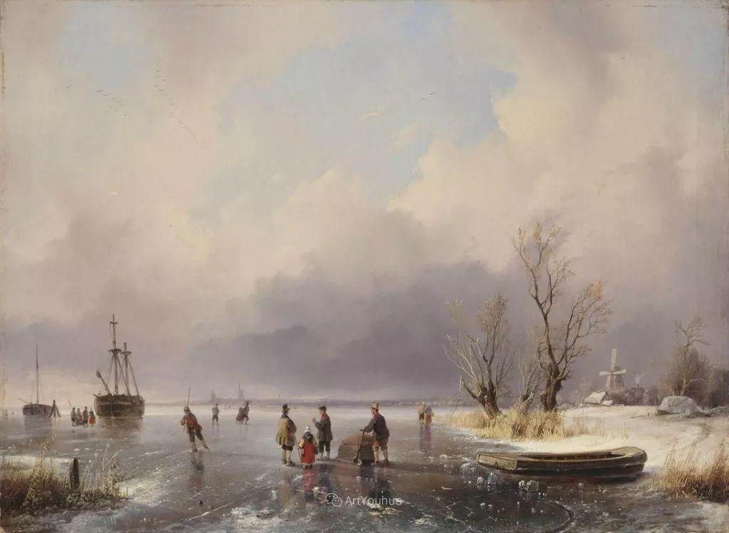 美丽精细的雪景,荷兰画家Remigius van Haanen插图10