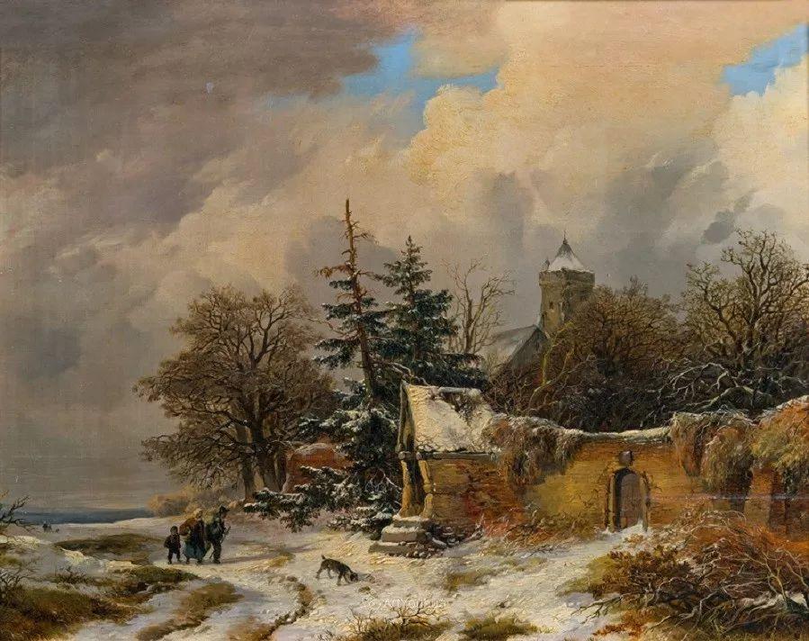 美丽精细的雪景,荷兰画家Remigius van Haanen插图12
