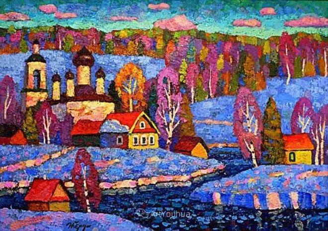 色彩艳丽,俄罗斯艺术家Igor Zagrievich Berdyshev插图
