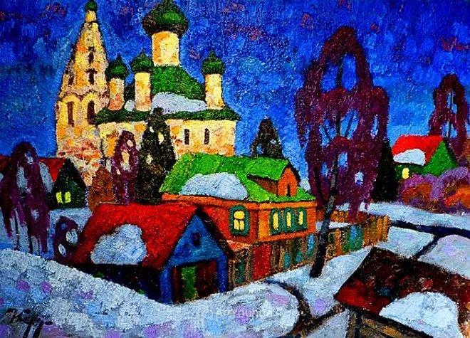 色彩艳丽,俄罗斯艺术家Igor Zagrievich Berdyshev插图1