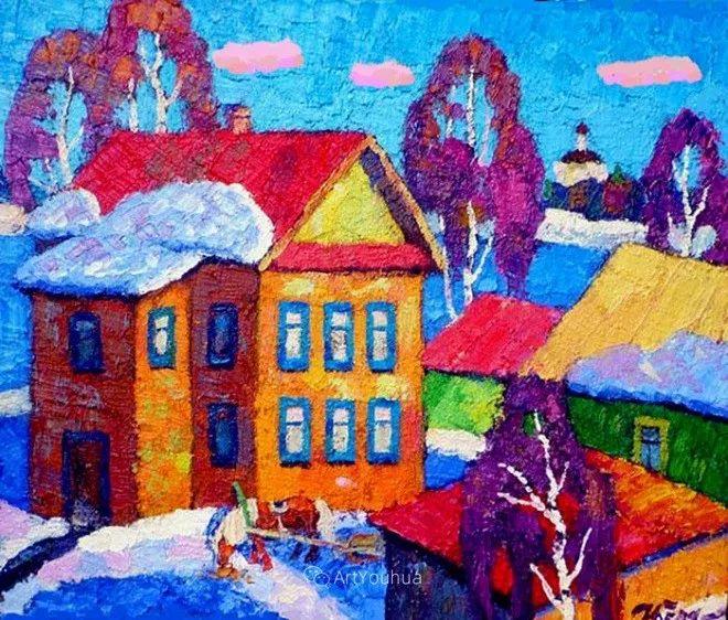 色彩艳丽,俄罗斯艺术家Igor Zagrievich Berdyshev插图5