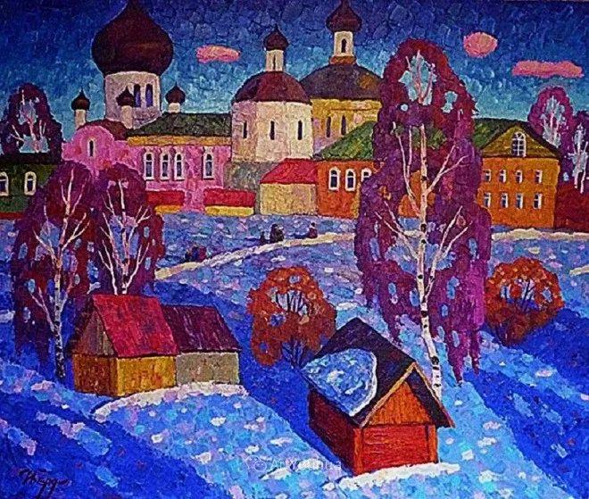 色彩艳丽,俄罗斯艺术家Igor Zagrievich Berdyshev插图6
