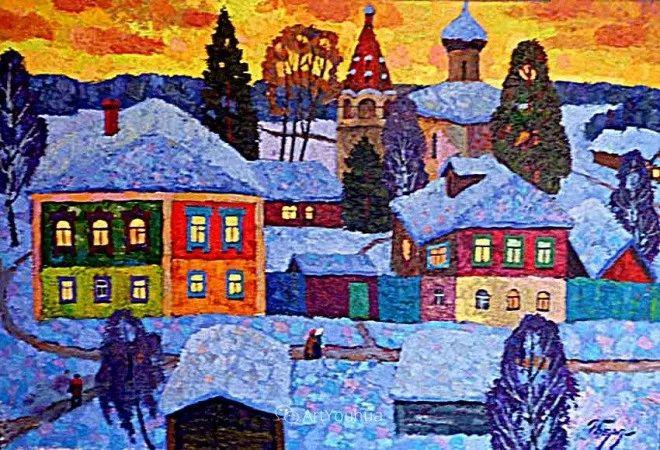 色彩艳丽,俄罗斯艺术家Igor Zagrievich Berdyshev插图25