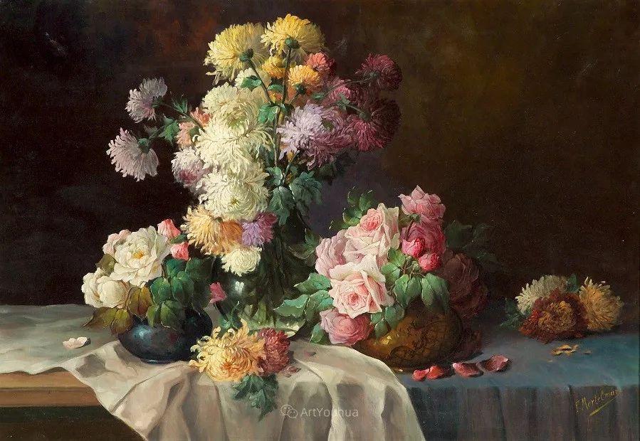 花卉静物画,比利时画家Frans Mortelmans插图