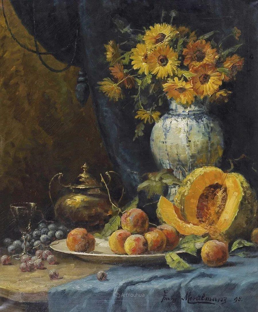 花卉静物画,比利时画家Frans Mortelmans插图3