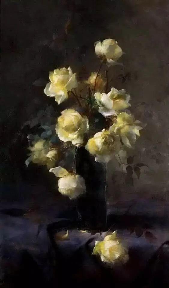 花卉静物画,比利时画家Frans Mortelmans插图12