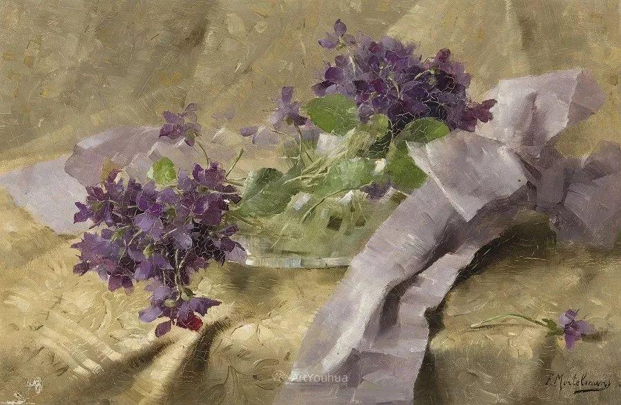 花卉静物画,比利时画家Frans Mortelmans插图15