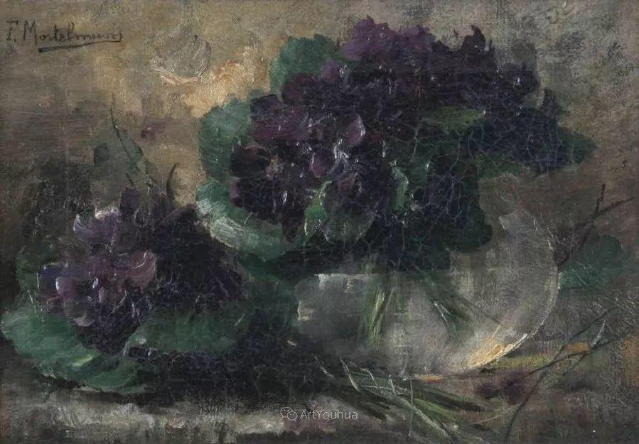 花卉静物画,比利时画家Frans Mortelmans插图17