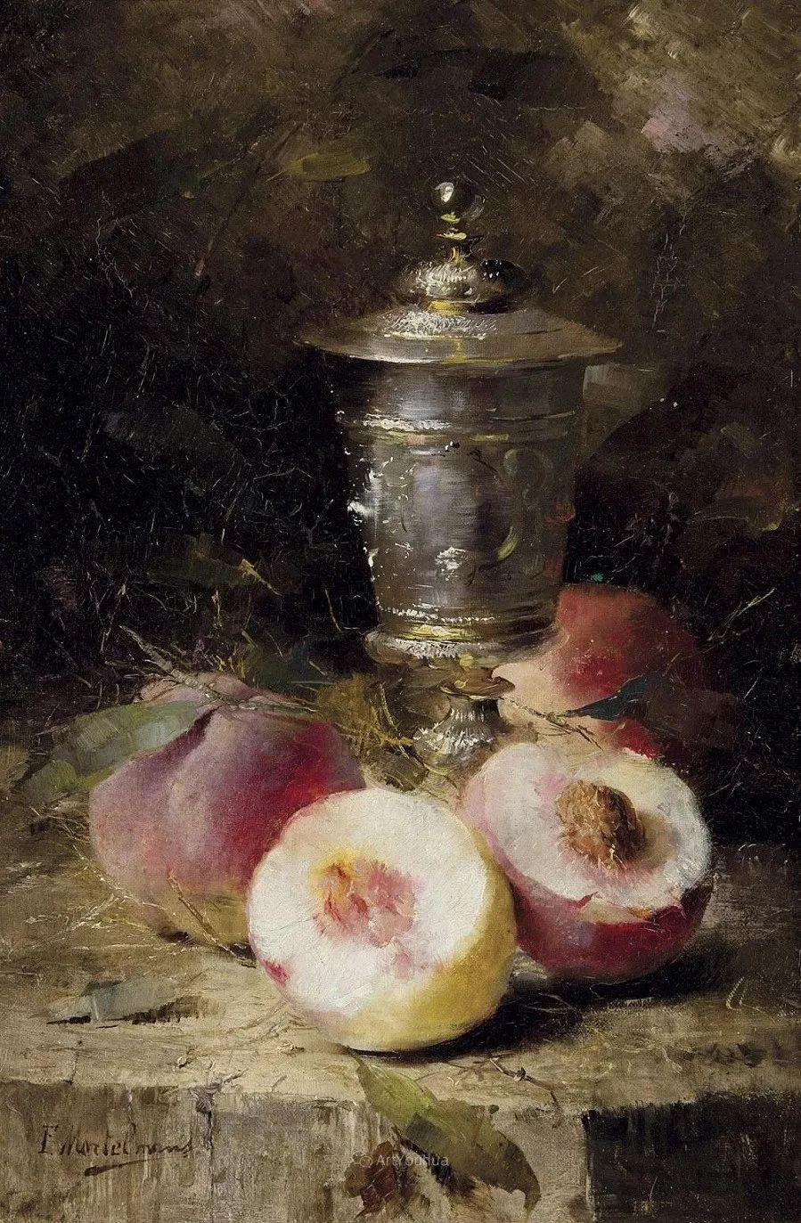 花卉静物画,比利时画家Frans Mortelmans插图29