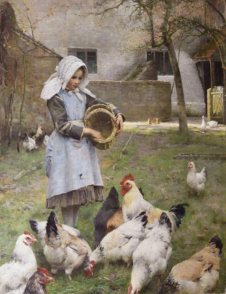 穷人的纪实描绘,爱尔兰画家Walter Frederick Osborne插图1