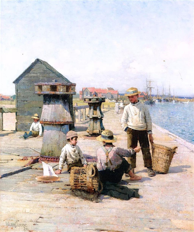 穷人的纪实描绘,爱尔兰画家Walter Frederick Osborne插图4