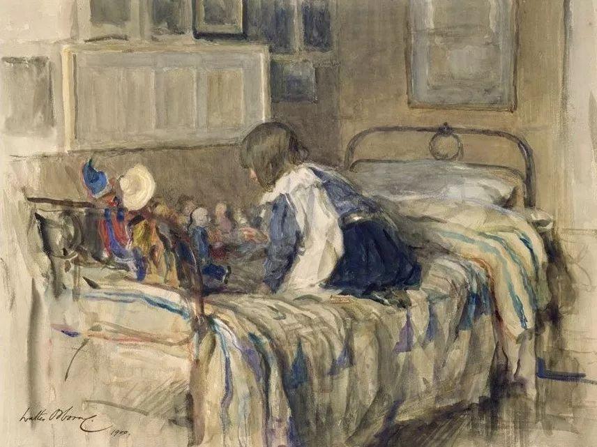 穷人的纪实描绘,爱尔兰画家Walter Frederick Osborne插图9
