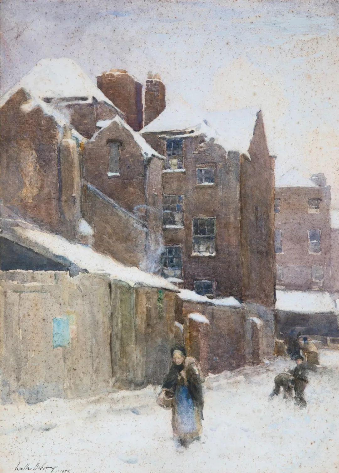 穷人的纪实描绘,爱尔兰画家Walter Frederick Osborne插图11