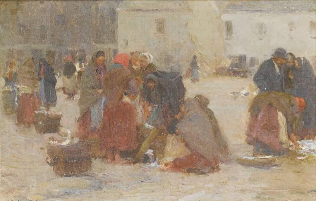 穷人的纪实描绘,爱尔兰画家Walter Frederick Osborne插图13