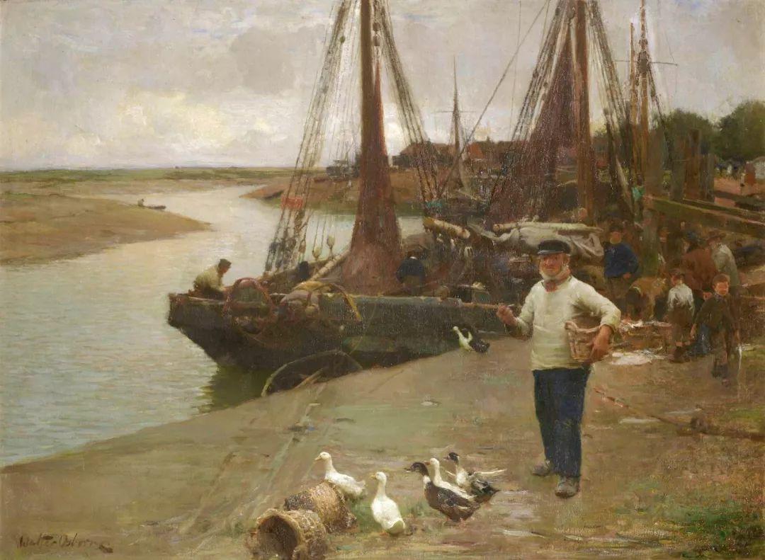 穷人的纪实描绘,爱尔兰画家Walter Frederick Osborne插图15