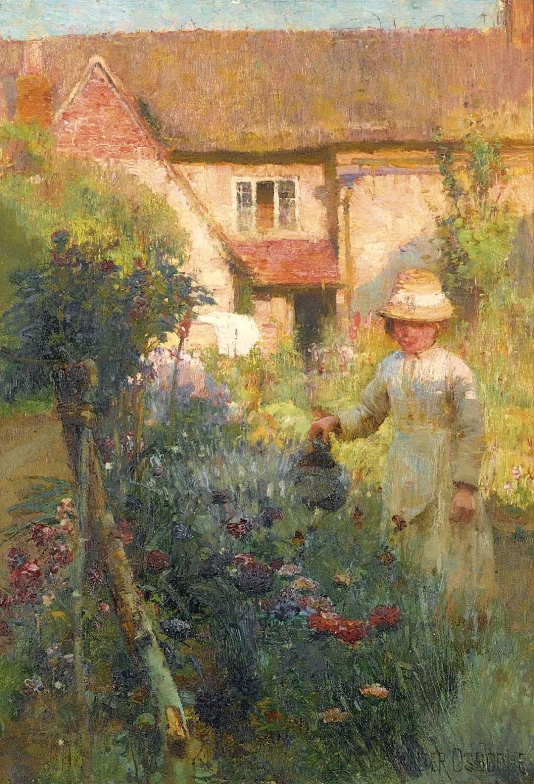 穷人的纪实描绘,爱尔兰画家Walter Frederick Osborne插图16