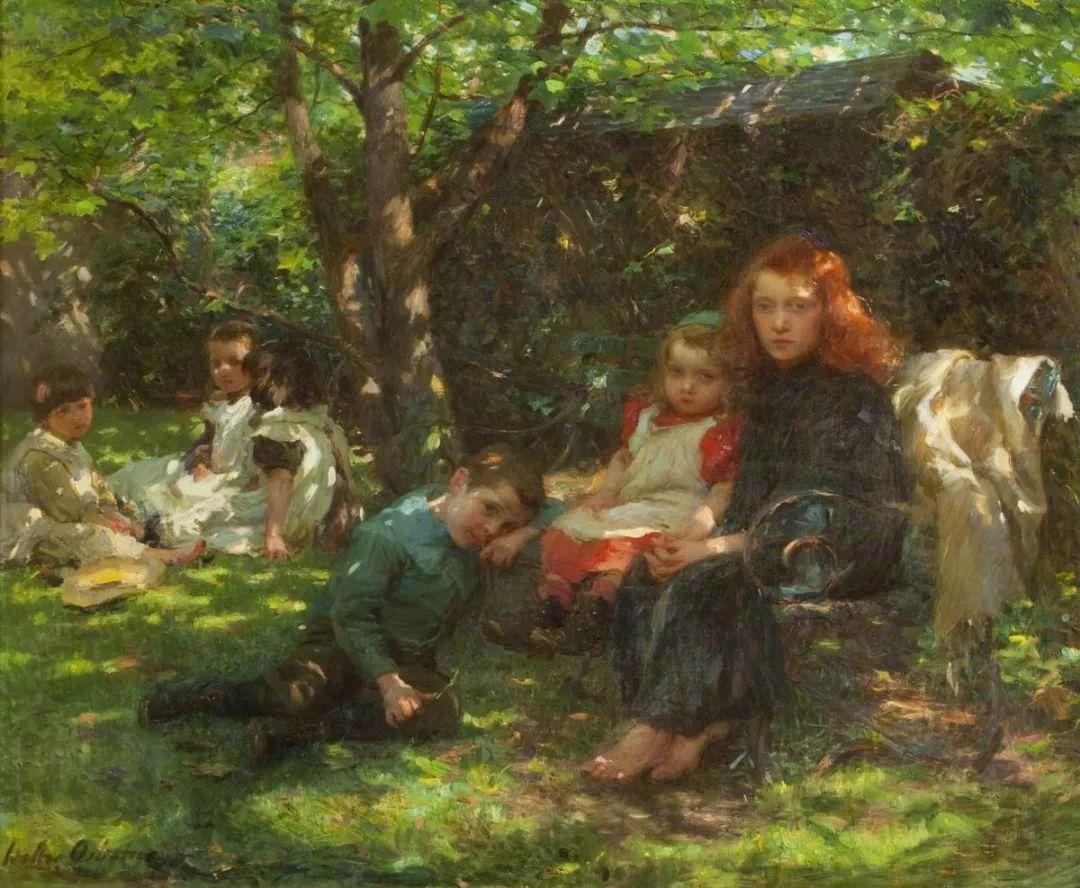 穷人的纪实描绘,爱尔兰画家Walter Frederick Osborne插图19