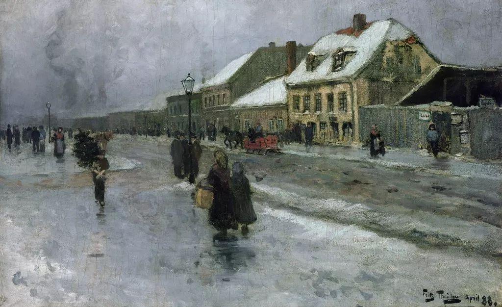 穷人的纪实描绘,爱尔兰画家Walter Frederick Osborne插图21