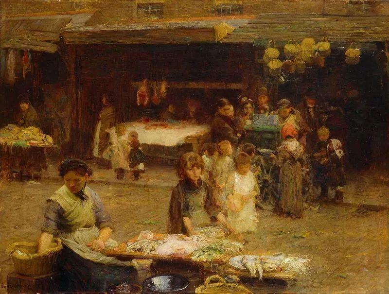 穷人的纪实描绘,爱尔兰画家Walter Frederick Osborne插图26