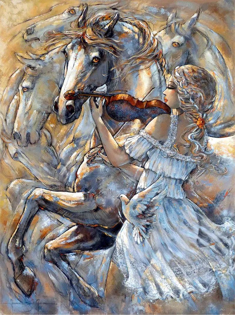 充满诗意幻想的世界,法国女画家Jeanne Saint Chéron插图4