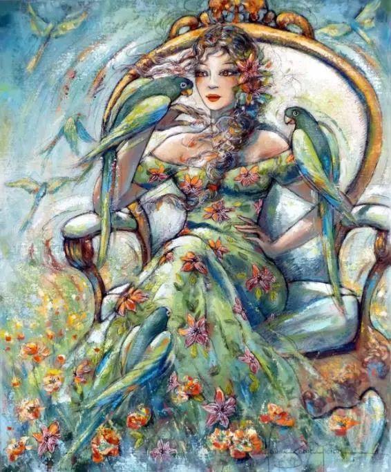 充满诗意幻想的世界,法国女画家Jeanne Saint Chéron插图8