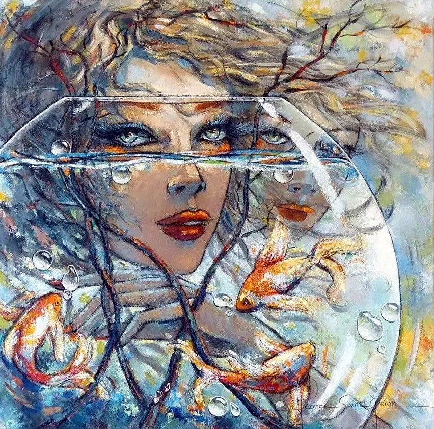充满诗意幻想的世界,法国女画家Jeanne Saint Chéron插图18