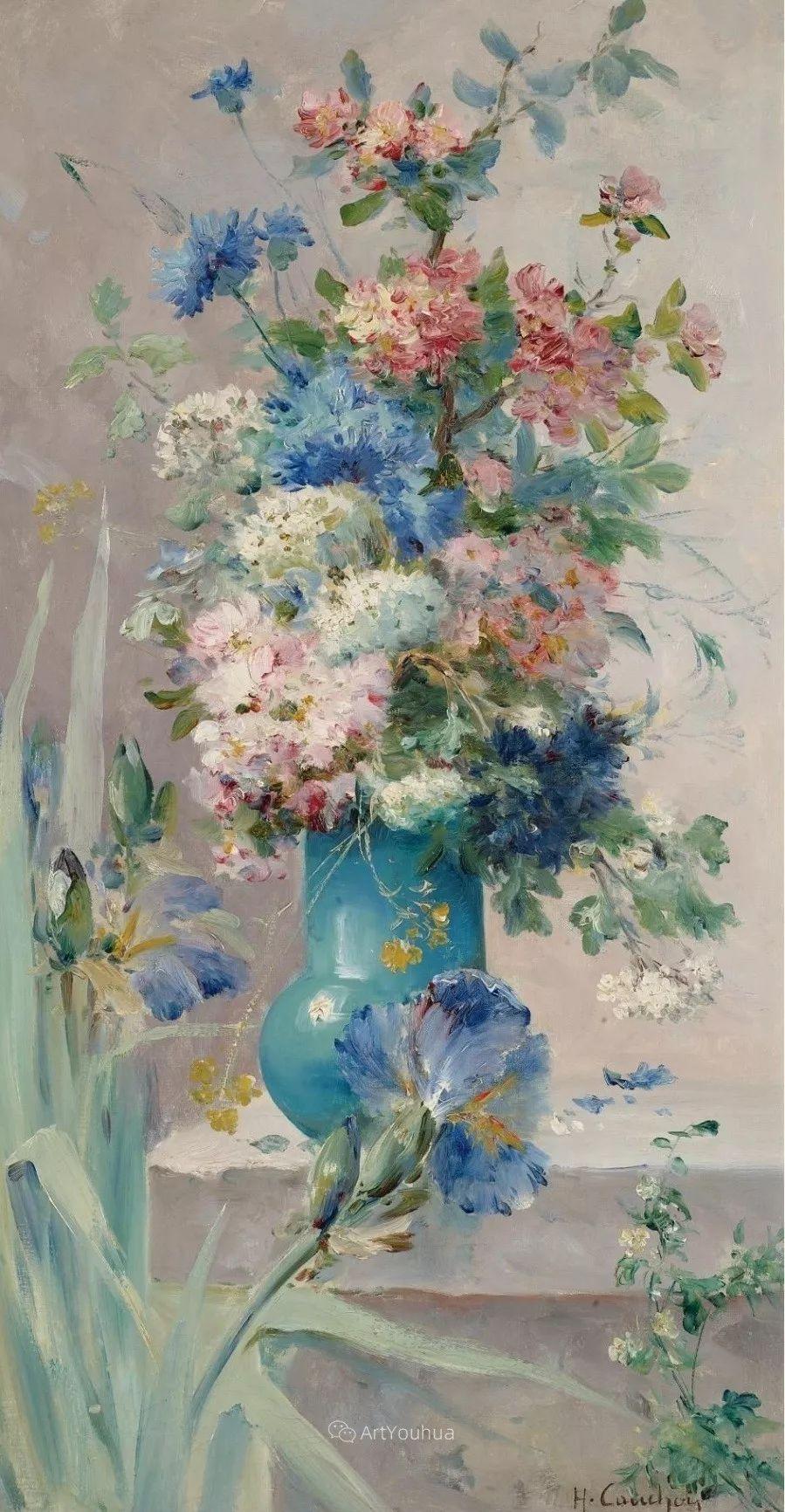 他对浪漫主义情有独钟,花卉很赞!法国Eugène Henri Cauchois插图2