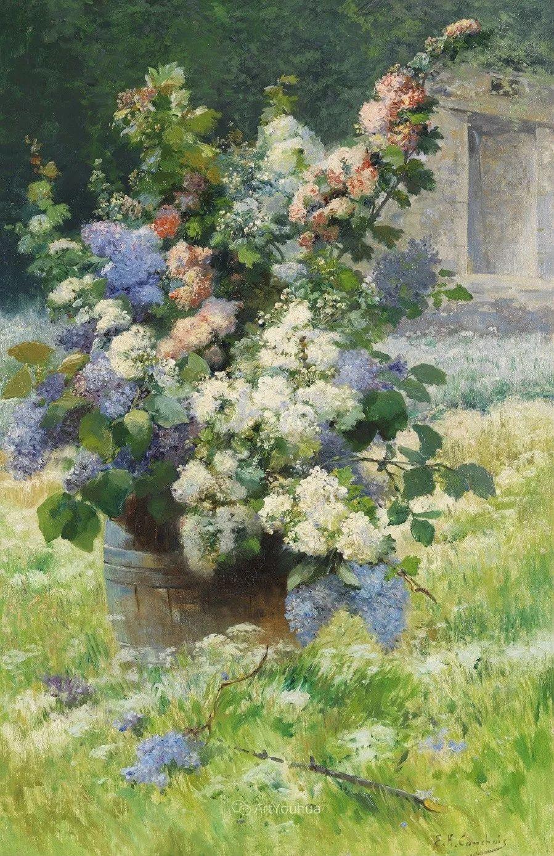 他对浪漫主义情有独钟,花卉很赞!法国Eugène Henri Cauchois插图12
