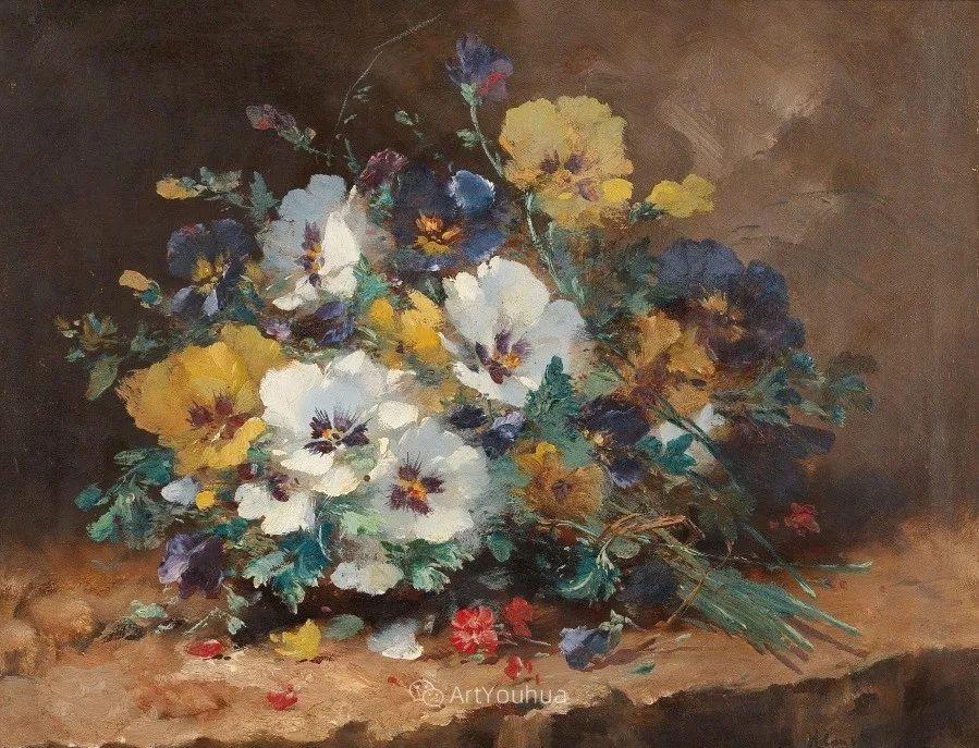 他对浪漫主义情有独钟,花卉很赞!法国Eugène Henri Cauchois插图21