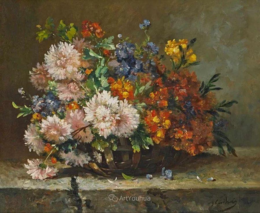 他对浪漫主义情有独钟,花卉很赞!法国Eugène Henri Cauchois插图24