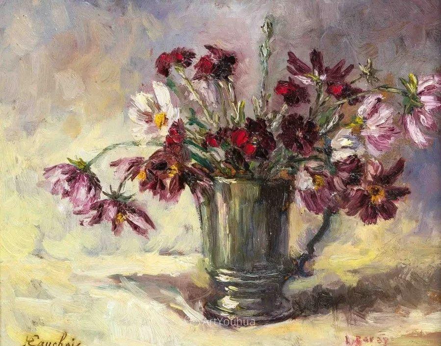 他对浪漫主义情有独钟,花卉很赞!法国Eugène Henri Cauchois插图31