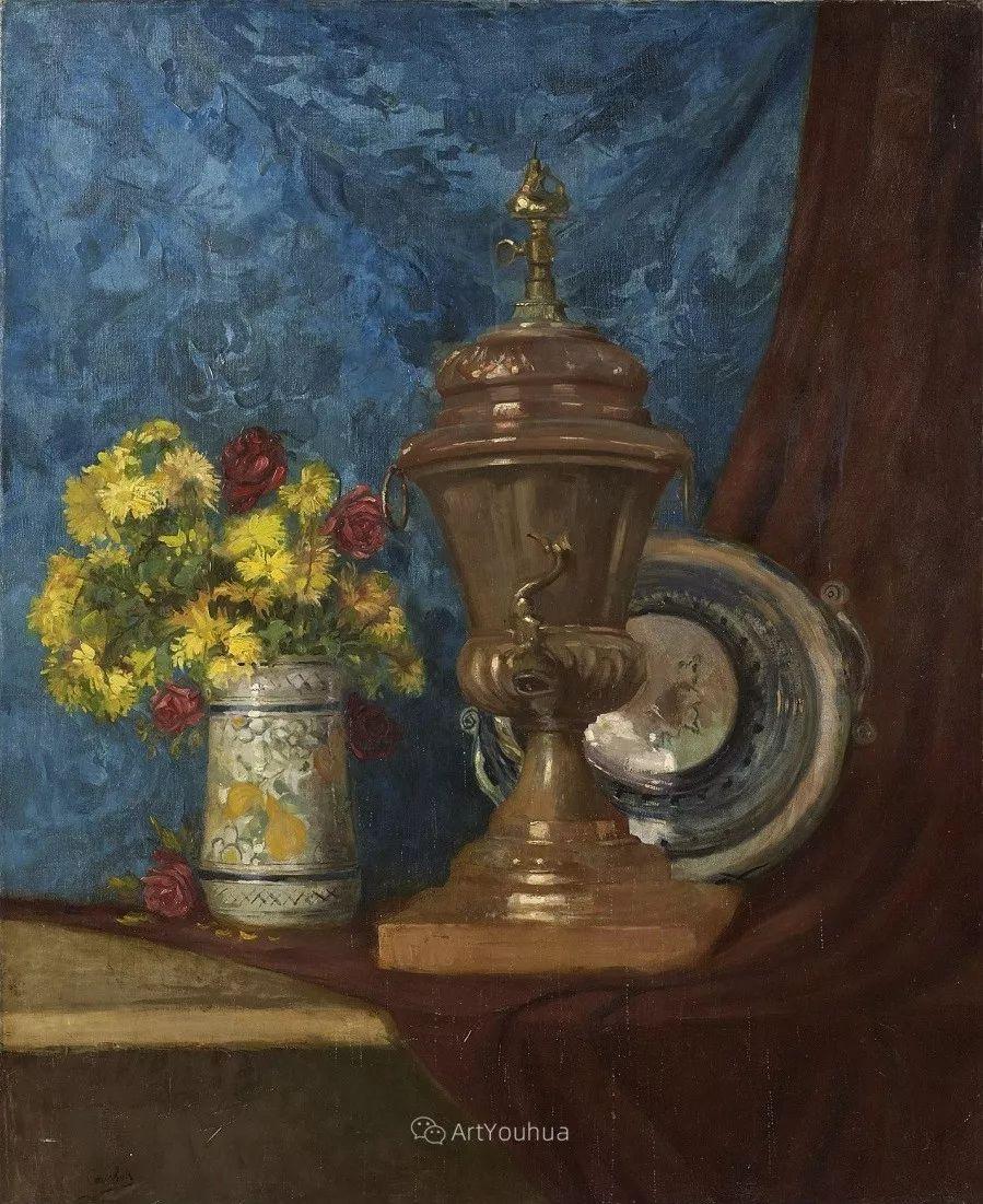 他对浪漫主义情有独钟,花卉很赞!法国Eugène Henri Cauchois插图34