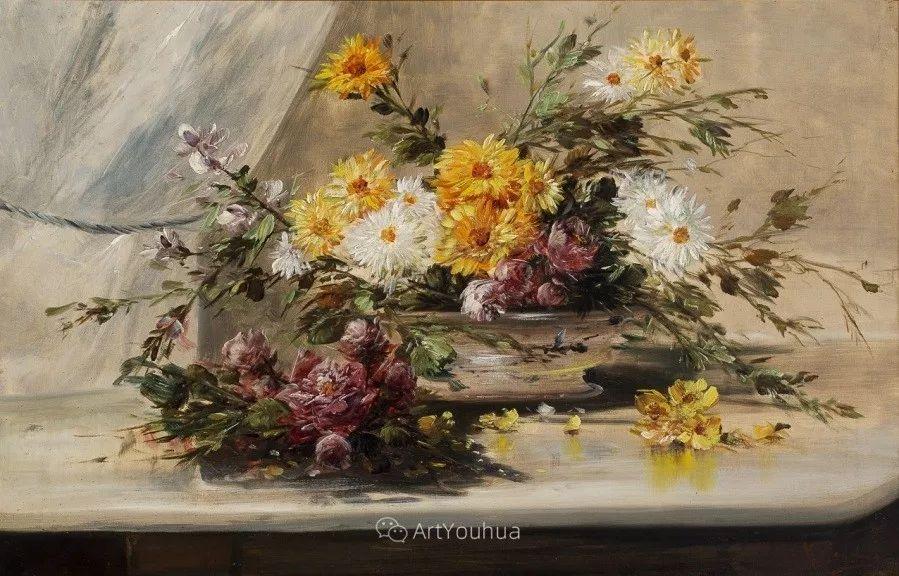 他对浪漫主义情有独钟,花卉很赞!法国Eugène Henri Cauchois插图38