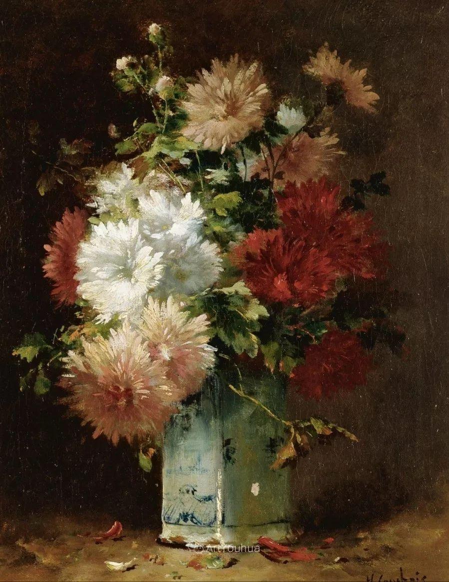 他对浪漫主义情有独钟,花卉很赞!法国Eugène Henri Cauchois插图41