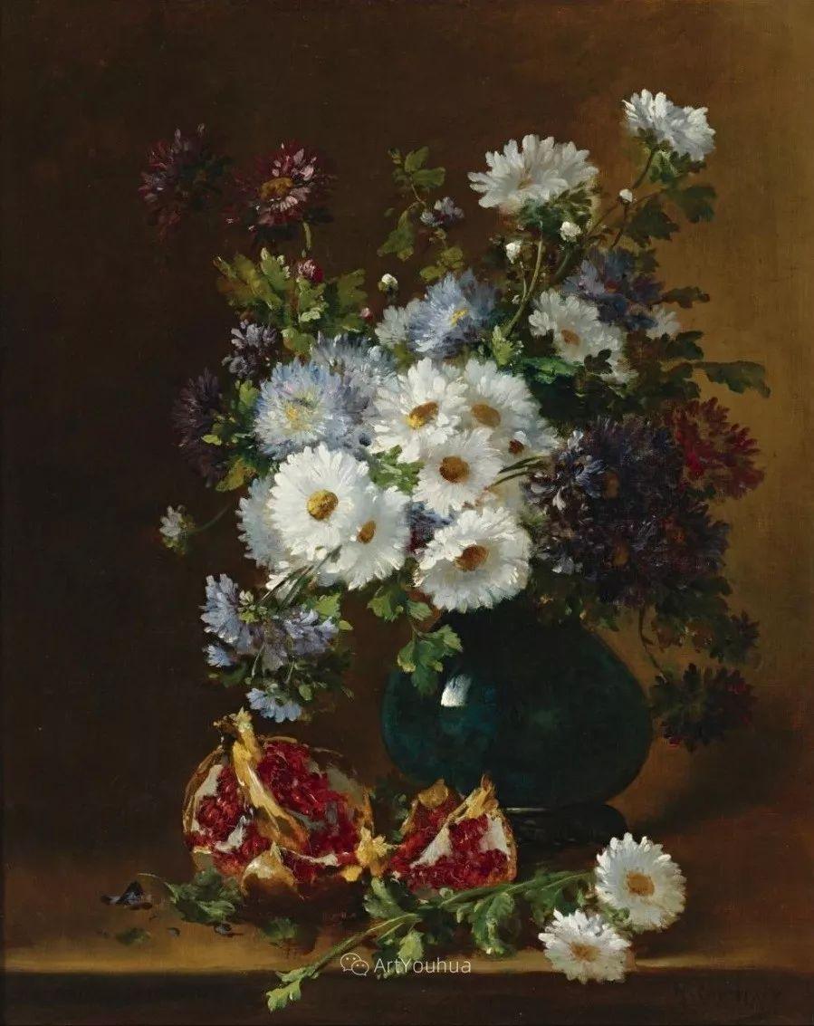 他对浪漫主义情有独钟,花卉很赞!法国Eugène Henri Cauchois插图44