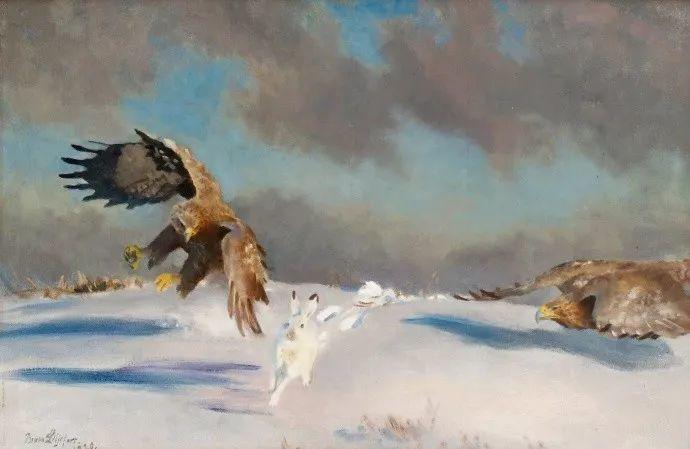 著名野生动物画家,瑞典Bruno Liljefors插图2