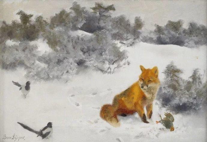 著名野生动物画家,瑞典Bruno Liljefors插图3