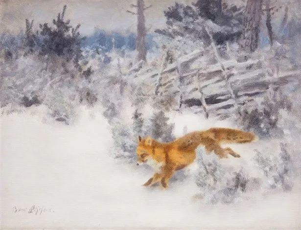 著名野生动物画家,瑞典Bruno Liljefors插图7