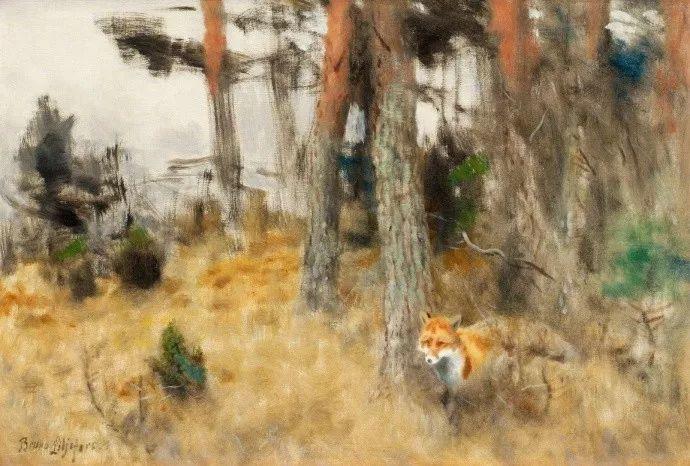 著名野生动物画家,瑞典Bruno Liljefors插图8