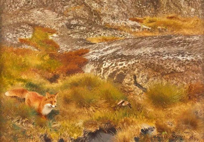 著名野生动物画家,瑞典Bruno Liljefors插图9