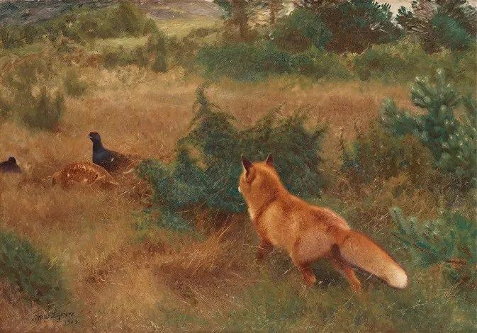 著名野生动物画家,瑞典Bruno Liljefors插图10