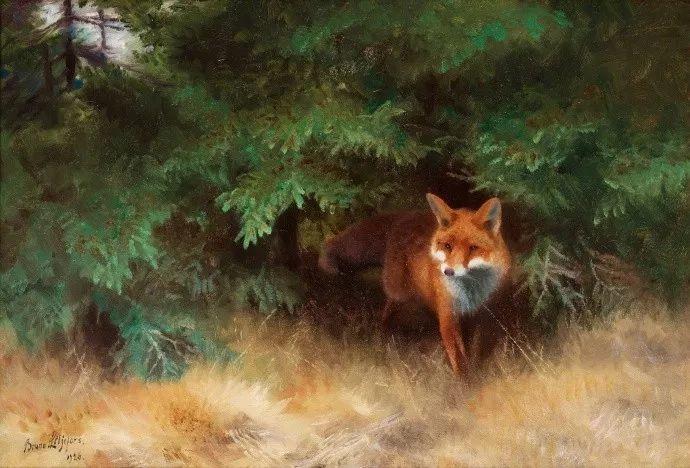 著名野生动物画家,瑞典Bruno Liljefors插图11
